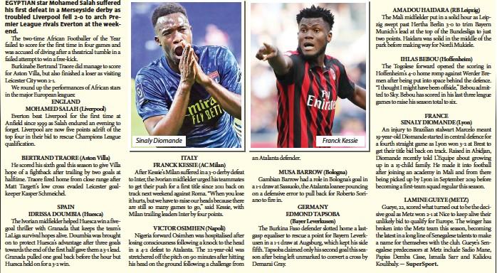 ??  ?? Sinaly Diomande an Atalanta defender. Franck Kessie