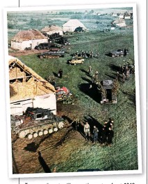 ??  ?? Troops gather at a village on the eastern front, 1942. Reader M Underwood recalls a story told by a participant in the German invasion of the Soviet Union