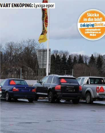 ?? FOTO: FREDRIK GUSTAFSSON ?? LYXIGT. När jag var 16 bestod Enköpings epatraktor-park av ombyggda Volvo 240. I dag är det Porsche och BMW som gäller?