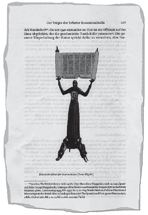 """??  ?? Ausriss aus dem Artikels von Julie Casteigt, Dietmar Mieth und Jörg Rüpke in der """"Zeitschrift für Religions- und Geistesgeschichte""""mit einer Rekonstruktion von Irene Rüpke, wie der Wolfram als Torarollen tragender Aaron ausgesehen haben könnte. Den..."""