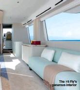 ??  ?? The 78 Fly's generous interior