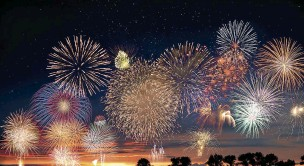 ??  ?? ABOVE: Could drive-in fireworks displays be the best way to enjoy Bonfire Night in future?
