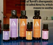 ??  ?? ONE of Turvill's therapeutic products is called Amu'in, which means to soothe