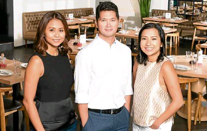 "??  ?? Abba Napa, Jon Syjuco and Eliza Antonino: ""We've grown together with SM. They keep offering opportunit­ies for restaurate­urs like ourselves. Their new developmen­ts remain relevant and competitiv­e in the market."""