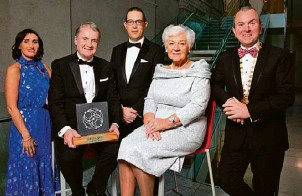??  ?? From L to R: Debbie Power Vodafone, Tadhg O'Flynn CEO O'Flynn Medical Conor Healy CEO Cork Chamber Anne O'Flynn O'Flynn Medical and Bill O'Connell President Cork Chamber.