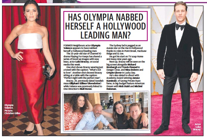 Pressreader The Daily Telegraph Sydney 2018 12 19 Has Olympia Nabbed Herself A Hollywood Leading Man