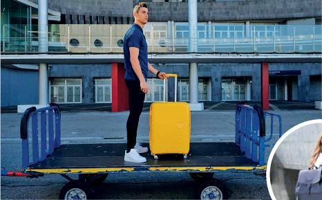 ??  ?? BAGGED IT American Tourister elected football champion Cristiano Ronaldo as its ambassador; Samsonite's Karissa backpack has spacious compartents