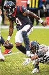 ?? Brett Coomer / Staff photogher ?? Deshaun Watson has avoided addressing his situation directly like it was a defensive player trying to sack him.