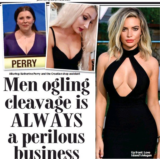 why men love cleavage