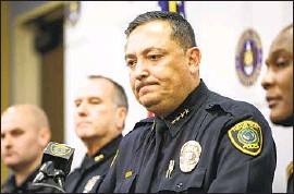 ?? Jon Shapley Associated Press ?? ART ACEVEDO is shown in 2019 when he was Houston's police chief, the first Latino to hold the job. Some Cuban Americans in Miami saw him as an outsider.