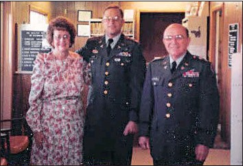 ??  ?? Pictured are Dr. Jane Silver, left, with Dr. George R. Silver. and Dr. George Silver, who both achieved the rank of colonel in the Army.
