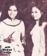 ??  ?? …with Mildred Ortega