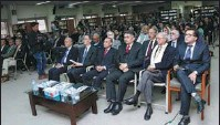 ?? PROVIDED TO CHINA DAILY ?? Talat Shabbir (first row, third from right) attends the Ambassadors Platform, an event held at the Institute of Strategic Studies Islamabad last year.
