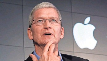 ?? RICHARD DREW, AP ?? Apple CEO Tim Cook has said his company's defense of iPhone users' privacy is worth an all-out battle, making a trip to the Supreme Court all the more likely.