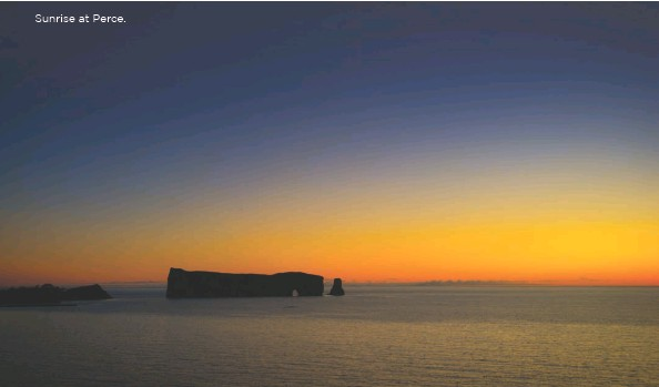 ??  ?? Sunrise at Perce.