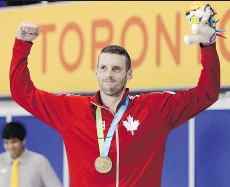 ?? MARK HUMPHREY/THE CANADIAN PRESS/THE ASSOCIATED PRESS/FILES ?? Victoria swimmer Ryan Cochrane, 27, who has won eight medals at the world level, is hoping to finally win gold at this year's Olympics.