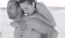 ?? SONY PICTURES CLASSICS ?? Matthias Schoenaerts and Marion Cotillard star in Rust and Bone and in this scene, he carries her into the sea for a swim in an astounding moment that blends pity, envy and surprise.