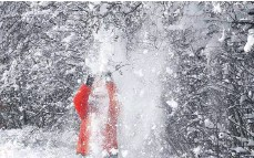 ?? FOTO: BRIGITTE ALTSTAEDT ?? Achtung Schneefall von oben.