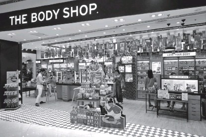 ??  ?? The Body Shop SM Mall of Asia showcases its latest store concept.