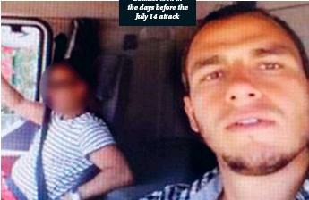 ??  ?? This is one of the selfies Lahouaiej Bouhlel took in the days before the July 14 attack