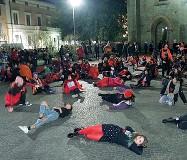 ??  ?? Mobilitazione Un evento contro la violenza sulle donne