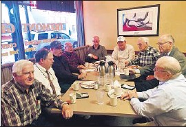?? Mark Z. Barabak Los Angeles Times ?? NINE REGULARS who meet at the Tremont Grille in Marshalltown, Iowa, don't want to see harsh measures such as walling off Mexico or rounding people up.