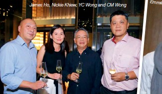 ??  ?? James Ho, Nickie Khiew, YC Wong and CM Wong