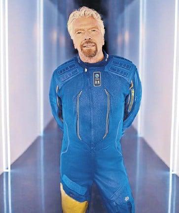 ?? EFE ?? Richard Branson y sus cinco acompañantes son los primeros turistas espaciales.