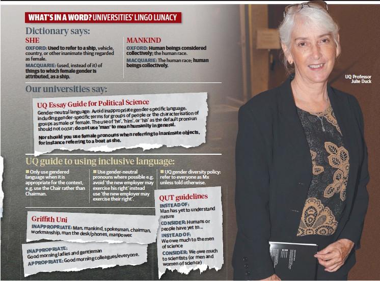 ??  ?? UQ Professor Julie Duck