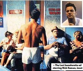 ??  ?? The Levi launderette ad starring Nick Kamen, inset