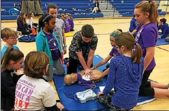 ?? AIDAN'S HEART FOUNDATION FACEBOOK ?? Aidan's Heart Foundation trained more than 1,000 Marsh Creek Sixth Grade Center students how to perform hands-only CPR. The program has been offered for the three years that the school has been opened.