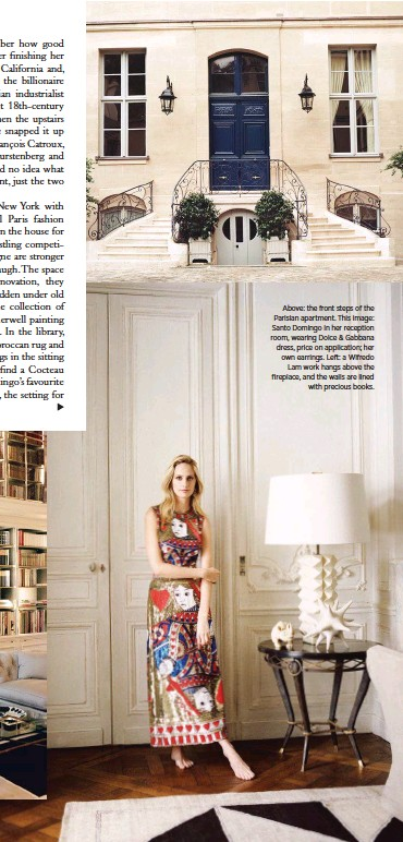 Above The Front Steps Of Parisian Apartment This Image Santo Domingo In Her Reception Room Wearing Dolce Gabbana Dress Price On Lication