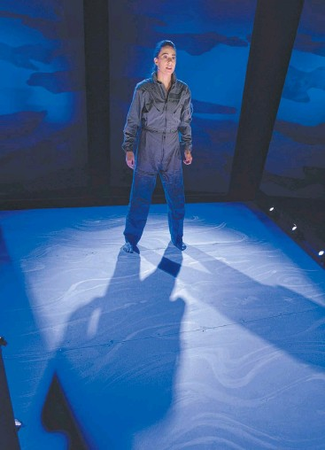 ??  ?? FULL THROTTLE: Libby Munro nails it in Queensland Theatre Company's Grounded.