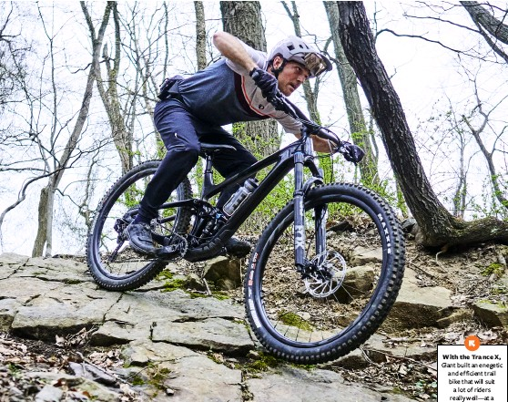??  ?? With the Trance X, Giant built an enegetic and efficient trail bike that will suit a lot of riders really well—at a reasonable price.