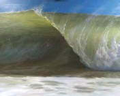 "??  ?? 10. Vanessa Rothe Fine Art, The Sea, oil, 34 x 38"", by Irina Kalutznaya. 11. Gunnison Surf, oil on canvas, 48 x 60"" 13. William Jameson, Fall on the Wautaga River,"