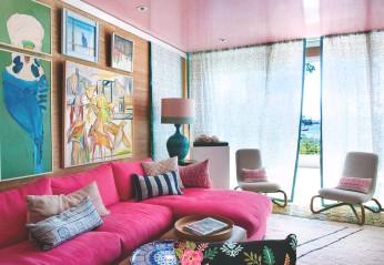 ??  ?? Clockwise, from far left: Briony Fitzgerald Design (both images); Velvet Embroidered Cushion, Ruby Star Traders, shoprubystar.com.au; Villeroy Boch S+ Green Apple cutlery, villery-boch.com.au