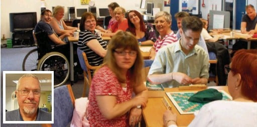 ??  ?? Tony Williams, inset, says Connect, a social group for people with disabilities in Stockport, is in danger of closing