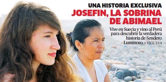 """??  ?? EN BUSCA DE LA VERDAD. Josefin Ekermann, sobrina de Augusta La Torre, y Flor Gonzales, protagonistas del documental """"Tempestad en Los Andes""""."""