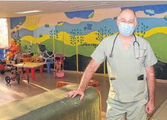 ??  ?? DR. MARCELO Meo (MP 1829), jefe del Servicio de Pediatría del hospital Penna.
