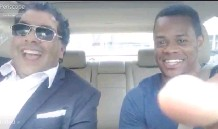 ?? POSTMEDIA ?? A frame grab of a video shows Calgary Mayor Naheed Nenshi, left, in a hired driver car during a ride recently in Boston. In the video, Nenshi voices his thought on the recent Uber application in Calgary.