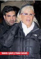 ??  ?? Valeria Lynch y Pablo Cerrutti.