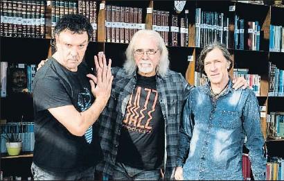 ?? ERNESTO CORTIJO ?? Tino di Geraldo, Carles Benavent y Jorge Pardo, fotografiados el mes pasado en Madrid