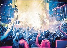 ??  ?? Party pur im Dome: Innerhalb von sieben Tagen steigen 5 Partys