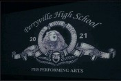 """?? CECIL WHIG PHOTOS BY MATT HOOKE ?? Cameron Malone took the place of the iconic MGM lion during the introduction for Perryville High School's """"The Wizard of Oz,"""" a film the school created when they couldn't have live theater because of the pandemic."""