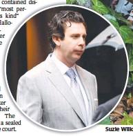 ??  ?? Suzie Wilks Wilks, and (inset) former husband Nick O'Halloran.