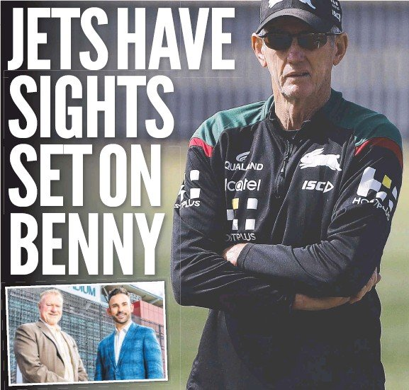 ??  ?? South Sydney coach and rugby league legend Wayne Bennett is being targeted by Steve Johnson and Nick Livermore from the newly formed Brisbane Jets consortium, as they eye off the supercoach to lead their club if they win the NRL'S 17th licence. Main picture: Getty Images