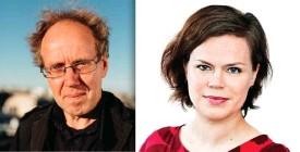 ??  ?? ■ Tapani Ritamäki och Anna Friman är litterära chefer för Svenskfinlands två största förlag.