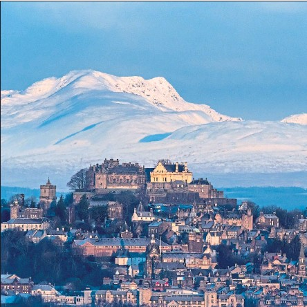 ??  ?? Stirling Castle with Ben Vorlich, right, and Stuc a'Chroin in the distance Picture: Shutterstock
