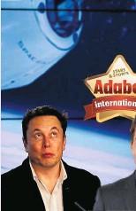 ??  ?? Elon Musk will Tom Cruise bei seinem Weltraum-Abenteuer helfen. NASA GAB GRÜNES LICHT