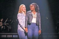 """?? MATTHEW MURPHY/ VIVACITY MEDIA GROUP VIA AP ?? Elizabeth Stanley, left, and Celia Rose Gooding during a performance of """"Jagged Little Pill."""""""